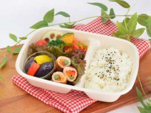 彩り野菜のはまぽーく巻き弁当